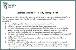 handout of example facility metrics