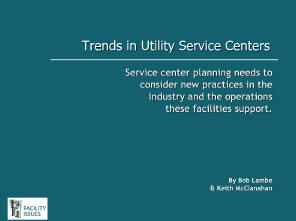 Trends in Utility Service Centers