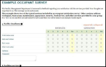 Example Occupant Survey Image